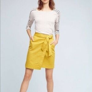 4 Pilcro and the Letterpress Chino Wrap Skirt
